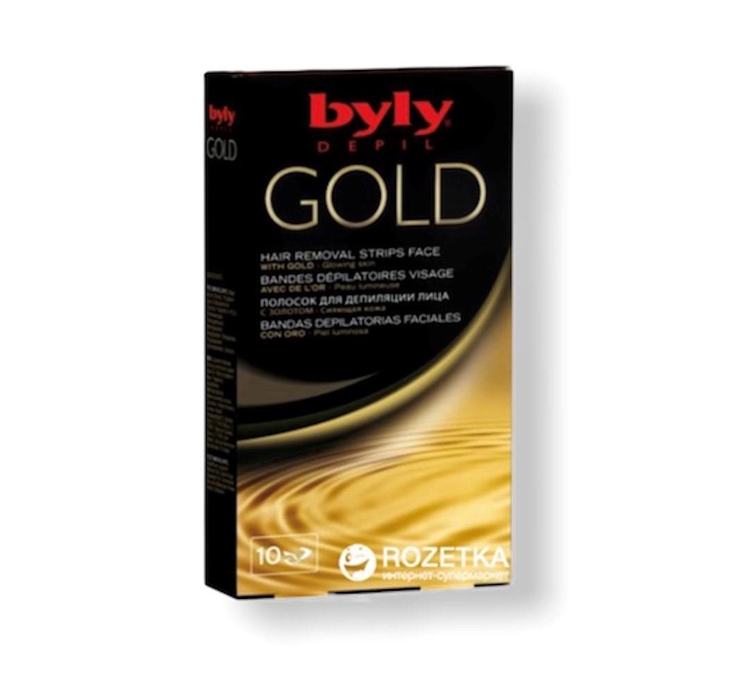 Bandas Depilatoria Facial Gold x10 Byly | Gloss Beauty ...